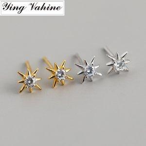 ying Vahine 100% 925 Prata Mini Star brincos para mulheres