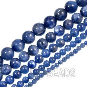"""1 пряди / упак. мода синий кианит камень 4 мм 6 мм 8 мм 10 мм круглый исцеление бусины 15.5 """" Оптовая"""