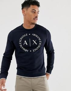 Mens 2019 Luxus-Design-Kleidung Frühjahr Herbst neue Pullover für Männer Rundhals dünn lange grundiert Entwurf Hoodies Sweatshirt Herren