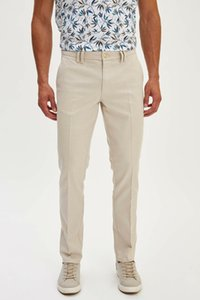 DeFacto Mode Hommes solides en vrac Pantalons Homme Classique Style Droit Pantalon en coton de haute qualité pour hommes - Pantalons K3261AZ19SM