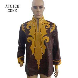 african bazin riche embroidery man shirt short sleeve LZ20#