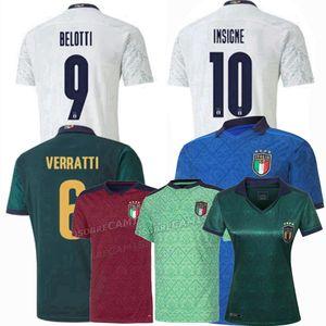 2020 2021 jerseys del fútbol de Italia Verratti INSIGNE INMÓVIL CHIESA Jorginho portero de fútbol 20 21 hombres, mujeres y niños de entrenamiento camisa 4XL