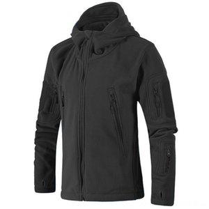Erkekler Sonbahar Ceket Yumuşak Açık Giyim Atletik Açık Giyim Shell Fleece Antistatik Sweatproof Kış Hızlı Kurutma Windproof Termal Hiki