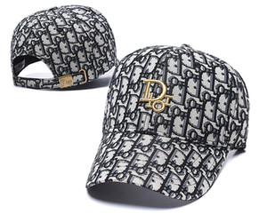 De calidad superior del color del capo diseñadordior envío gratis las gorras de béisbol Casual Hombres Mujeres Cap Wild Ins moda Hip Hop Cap