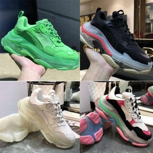 Paris 2019 Crystal Bottom Triple-S Leisure Luxury Dad Shoes Platform Triple S Sneakers Men Women VssYEzZYYEzZYs v2 350boost