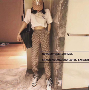 femme sociale de haute qualité concepteur de célébrité web lâche rétro taille élastique pantalon ceinturé de pantalon occasionnels de la mode des femmes de luxe