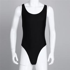 MSemis hommes d'une seule pièce High Cut Body Leotard singlet Sous manches Bodysuit com bojo String avec justaucorps Bulge Pochette Nouveau