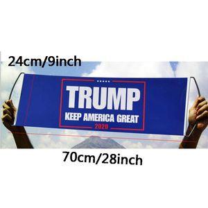 2020 Дональд Трамп 24X70CM Flag Ручной Trump флаг Бампер Keep America Great Флаг Баннер Trump Президент Выборы Флаги DHL AN2723