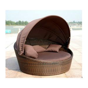 Outdoor-Sofas PE Rattan Chaise Lounge Sofas Bett Kissen Egg Chair für Gartenmöbel 0402-872