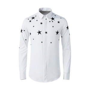 New Fashion High Quality Cototn Spring Summer Embroidery Long Sleeve Casual Shirts Plus Size M L XL 2XL 3XL 4XL