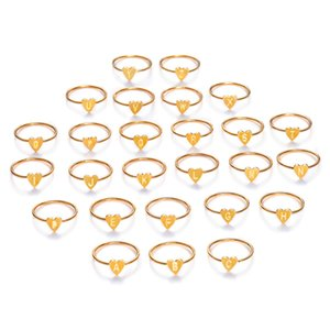 1 STÜCK Mode Silber Gold Farbe Herz Buchstaben Ringe für Frauen Mädchen DIY Name Ring Set Weibliche Erklärung Verlobungsfeier Schmuck