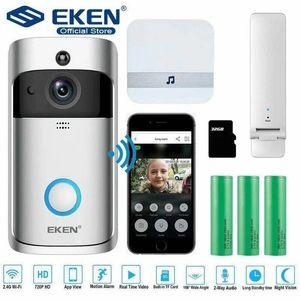 مسؤول الأصل EKEN V5 اتجاهين الصوت الجرس HD 720P اللاسلكي WIFI كاميرا للرؤية الليلية مراقبة التطبيقات
