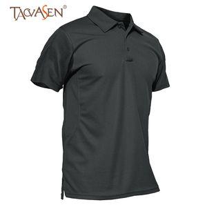 TACVASEN Hombres Army Polo T Shirt Camisa táctica de manga corta Camping Plus Size Fishing Polo T Hunting Shirts