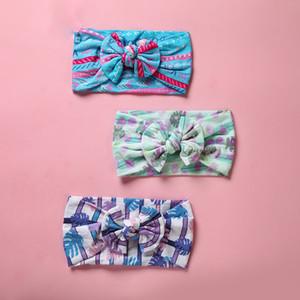 Neonate fascia floreale 21 fasce Hair Design ragazze Little Flower Bow-tie Fasce Kids Designer Headwear Boemia di nylon dei capelli della fascia 06