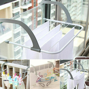 Multi-Use-Außen Folding-Träger Zum Aufhänger Regal Trockenlager Heizkörper Haken aus Metall Großen Clip-Tuch-Schuh Kleidung Wschetrockner