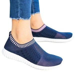 sapatos de verão de VICABO Mulheres Plano respirável Air Mesh Moda Simples calçados casuais para as mulheres Feminino zapatos mujer