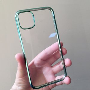 It is applicable to apple 11ProMax electroplating transparent and fully wrapped anti-fall Apple XS soft shell mobile phone case