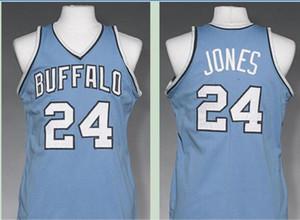 Benutzerdefinierte Männer Jugend Frauen Vintage Vintage Männer Buffalo # 24 Wil Jones 1977-1978 Basketball-Jersey-Größe S-6XL oder benutzerdefinierten beliebigen Namen oder Nummer Jersey