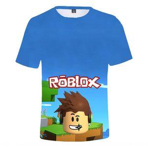 aUcCL Roblox 3D 디지털 디지털 컬러 중형 및 대형 어린이 패션 캐주얼 모두 매치 T - 셔츠 반소매 T 셔츠를 인쇄 다림질
