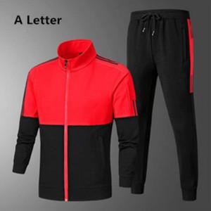 2020 neue Art-Tracksuits für Mens Sportswear mit Buchstaben Autumn Fashion Anzug Lange Hülsen-beiläufige Jogger Hosen-Anzug Kleidung 3 Farben
