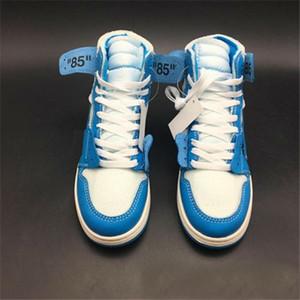Xshfbcl 2020 Nuove uscite 1 Chicago rosso Powder Blue UNC donne degli uomini di pallacanestro scarpe bianche Sport Sneakers