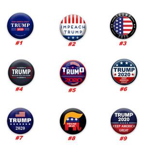 Trump брошь 2020 Trump Президент Выборы Баннер Знак Keep America Great Donald Trump Выборы Armband Знак Pins благосклонность партия ZZA1946