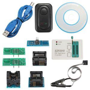 Freeshipping EZP2010 Yüksek Hızlı EEPROM USB Kablosu SPI BIOS Programcı Desteği CD Soket 24Cx 25Cx 93C Entegre Devreler Set Aktif Componen