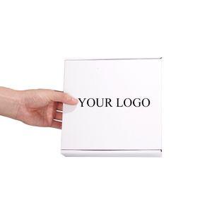 Toptan Gümrük 15x15x5.5cm Beyaz Hediye Paketleme Kutusu Mücevher Kutusu Saç Uzatma Paketler Peruk Nakliye Posta Packaging