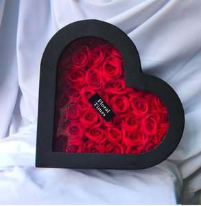Подарок Eternal Red Rose Box Искусственный Поддельный мыло цветок подарков Сердце Box День Валентина Girlfriend для женщин Свадебное украшение