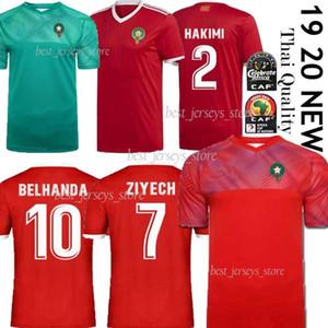 camisetas de fútbol THAI Europea Marruecos 18 19 20 Maillot de pie ZIYECH Hakimi BOUTAIB Camiseta de futbol Boussoufa El Ahmadi uniforme de fútbol