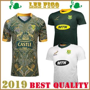 Beste Qualität Südafrika zu Hause weg Rugby-Trikots 2019 Nationalmannschaft Südafrika zu Hause weg RUGBY 100. Anniversary Edition SHIRT s-3xl