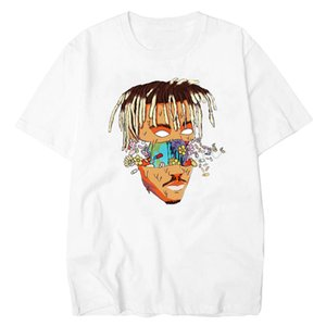JUICE RIP WRLD Rest In céu camisetas de manga curta Homens de Hip Hop Camiseta Rapper Xxxtentacion Mens Clothing