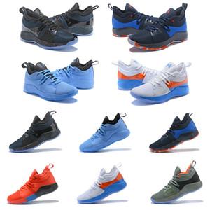Haute qualité Paul George 2 PG II Chaussures de basket pour pas cher haut PG2 2S Starry Bleu Orange Tous Blanc Noir Chaussures de sport