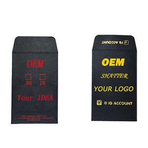 Etiqueta personalizada Extracto Concentrado Semillas de rotura Embalaje Kraft Papel Sobres Múltiples colores Disponibles EDIBLE SOBELES OEM Bienvenido