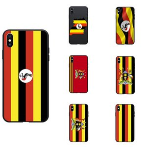 Uganda National Flag Coat Of Arms Theme Soft TPU Phone Back Cases For iPhone 6 6s 7 7s 8s X XR MAX  Plus