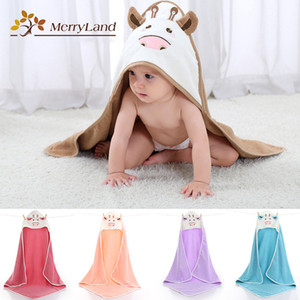 1psc Comfortable Baby Bathrobe Cute Animal Cartoon Babies Blanket Kids Hooded Bathrobe Toddler Baby Bath Towel