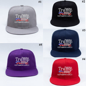 Trump Baseball Hats Keep America Great Letter Printed Embroidery Flat Hip Hop Hat Outdoor Sports Cap Party Hats OOA8005