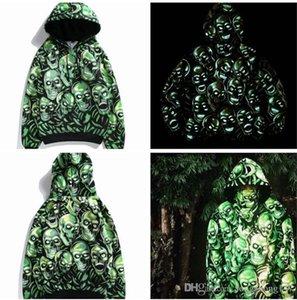 man's women's skulls luminous clothes casual hooded hoodies fleece pullover hoody man women coat camouflage Sweatshirts noctilucous jacket