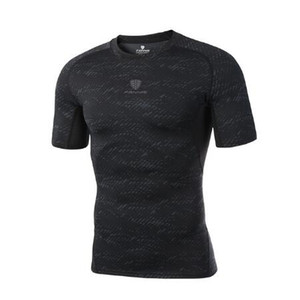 Fashion Men Running Shirts Compression Gym Sport shirt Tight Quick Dry Fit Top Soccer Jerseys Short Sleeves Fitness Rashgard