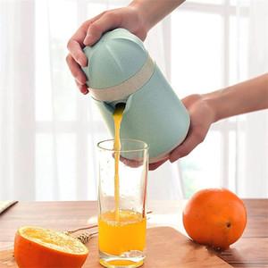 Juicers manuais simples trigo palha Cor Azul Limão Liquidificador Cozinha Ferramenta de prensagem processadores de alimentos fábrica Direct 12dm E19