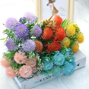 1 пучок многоцветной искусственной гортензии одуванчиков | День свадьбы DIY Нового года Валентин, день рождения или новый цветочный орнамент