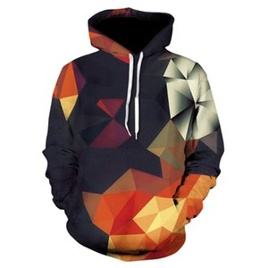 3D Hoodies Men Women Sweatshirts Fashion 3d Geometric Hoody Streetwear Unisex Color Blocks Pullover Colorful Hoodies for Men