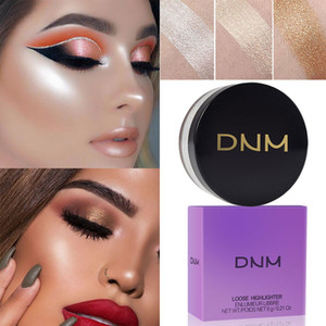 DNM Loose Highlighter Powder Waterproof High-Light Iluminador Contouring Brighten Glow Eye Shadow Grooming oil lcontrol Loose Face Cosmetics