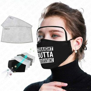 Letter Printing Designer Face Mask with Eye Shield + 2pcs Filter 2 In 1 Face Mouth Covers Adult Facemask Breathable Reusable Masks D62313