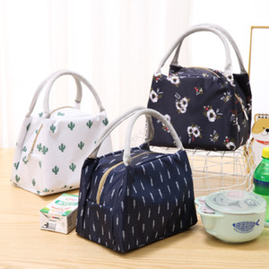 Portable Flamingo Lunch Bag Cooler Bag Thermal Insulation Bags Travel Picnic Food Lunch box bag for Women Girls Kids Adults FJ577