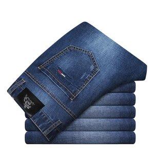 Calças Padrão Pop2019 Arie Tiger Jeans Masculino Verão coreano Diretamente tubo azul Old Age seção fina slim Calças