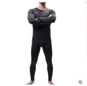Kış Erkekler Uzun Johns Kalınlaşmak Erkek Termal İç Giyim Setleri Long John O-Boyun Termal fanilalar Pantolon Seti J191173 Isınma