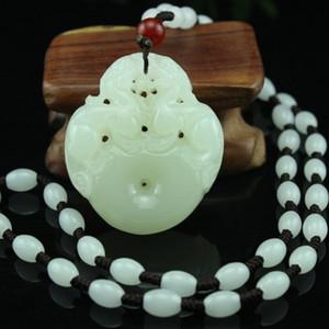 Spedizione gratuita Natural Afghan Jade Pendant Green White Jade Double Pendant Jade uomini e donne