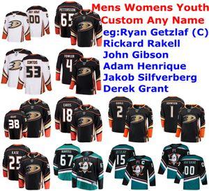 Анахайм утки трикотажные изделия женские Гибсон Джерси Рикард Ракелл Якоб Silfverberg Adam Henrique Ryan Getzlaf Hockey Jerseys Custom Shist