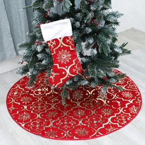 Рождественская елка юбки украшения с елки чулок Xmas Tree Skirt Украшение Merry Christmas Party товары 2pcs / серия LXL764